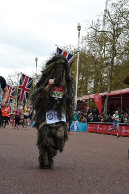 Final few metres of London Marathon.