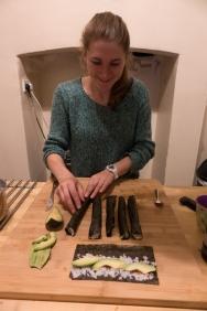 Making running sushi rolls