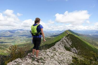 Lisa getting in some hill training in France. Testing out her Alpkit kit on multi-day ridge runs.