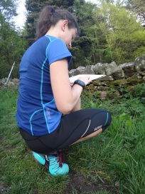 Libby testing out her new Inov-8 Rocklites and Alpkit running kit in the Peak District
