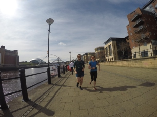 Jim and Libby in the centre of Newcastle
