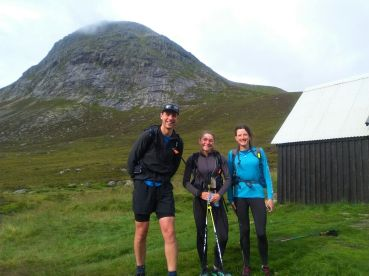 With Matt outside corrour bothy