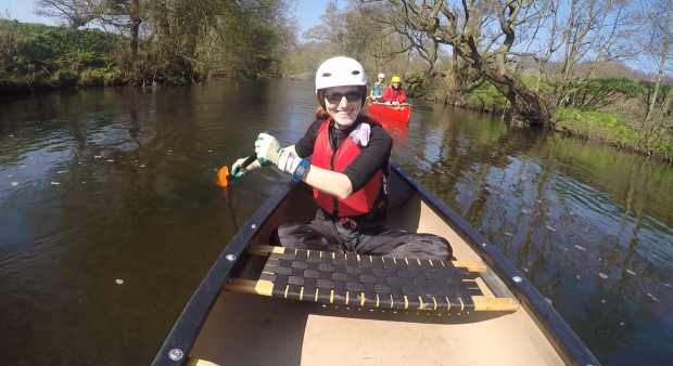 Cross-training: Canoeing in the river Derwent