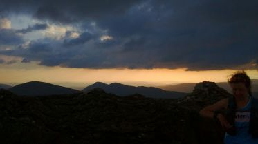 sunset on Ben Vane