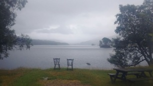 View at Loch Ossian Hostel