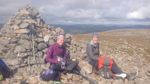 With Ailsa on top of Carin Liath