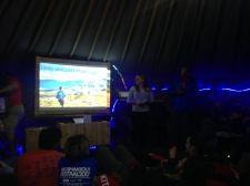 Inside the Daring Deeds tent