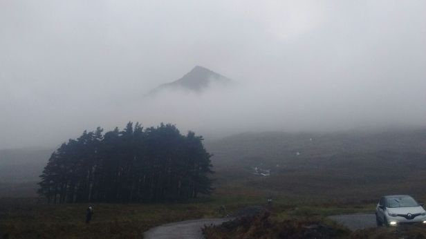 Ben Eighe appears out of the mist