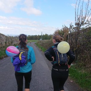 Birthday balloons (and novel ways to hold running snacks)